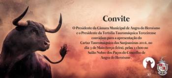 Cartaz tauromáquico das Sanjoaninas apresentado hoje