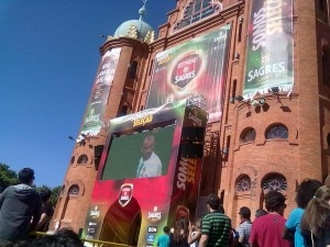 Campo Pequeno apoia a Selecção Nacional e instala ecrã gigante frente à praça
