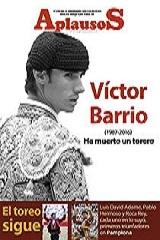 Aplausos Semanario Taurino dedica capa ao diestro Victor Barrio