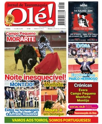 Jornal Olé 381, hoje nas bancas