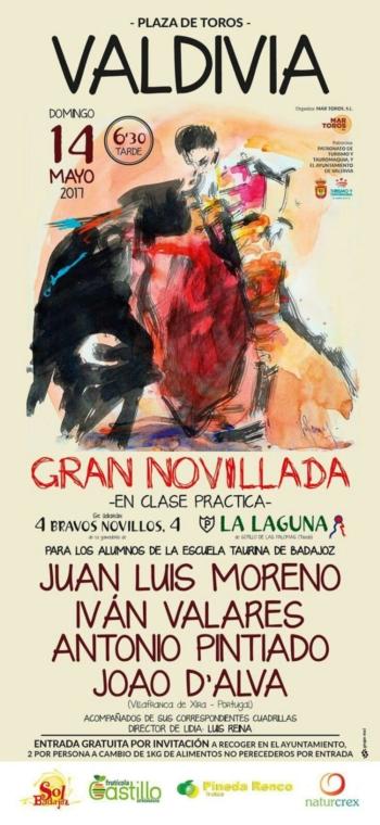 João D'Alva toureia em Valdivia(Badajoz) a 14 de maio